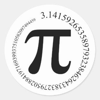 Pi (π) Day Round Sticker