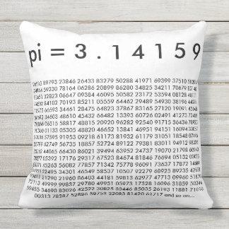 pi= 3.14159 Black White Math Science pi Day Digits Cushion