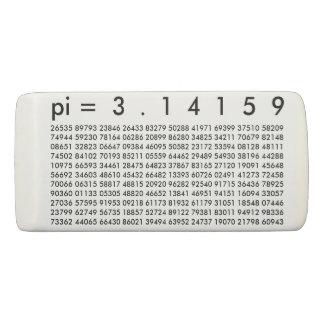pi= 3.14159 Black White Math Science pi Day Digits Eraser