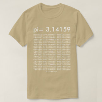 pi= 3.14159 Math Science Fashion pi Day Digits T-Shirt
