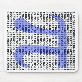 Pi 3.14 to Hundred of Digits Mouse Pad