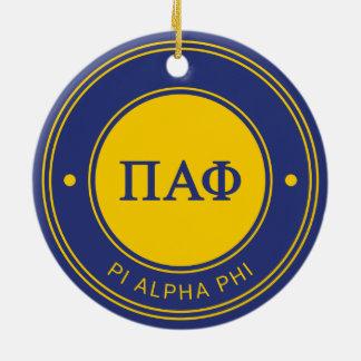 Pi Alpha Phi | Badge Round Ceramic Decoration