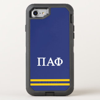 Pi Alpha Phi | Sport Stripe OtterBox Defender iPhone 8/7 Case