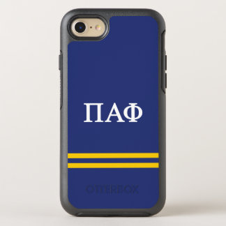 Pi Alpha Phi | Sport Stripe OtterBox Symmetry iPhone 8/7 Case