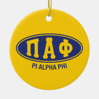 Pi Alpha Phi | Vintage Round Ceramic Decoration