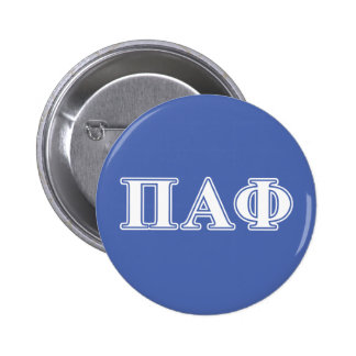 Pi Alpha Phi White and Blue Letters 6 Cm Round Badge