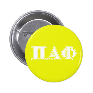 Pi Alpha Phi White and Yellow Letters 6 Cm Round Badge
