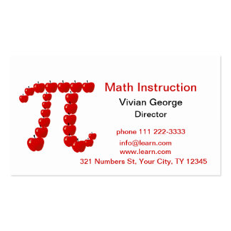 Pi Apples, Apple Pie Pack Of Standard Business Cards