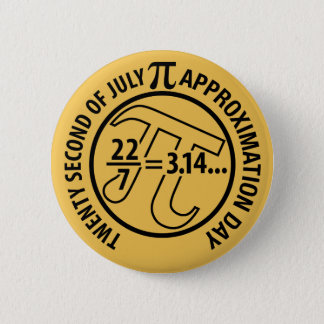 Pi Approximation Day 6 Cm Round Badge