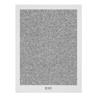 Pi art - Graphic Pi to the 31,415th decimal place Poster