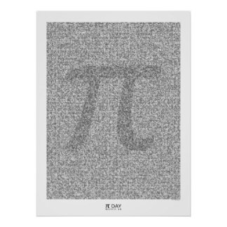 Pi art to the 31,415th decimal place with large Pi Poster