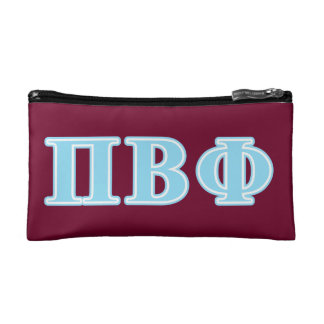 Pi Beta Phi Blue Letters Cosmetic Bag