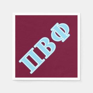 Pi Beta Phi Blue Letters Disposable Serviettes
