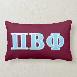 Pi Beta Phi Blue Letters Lumbar Cushion