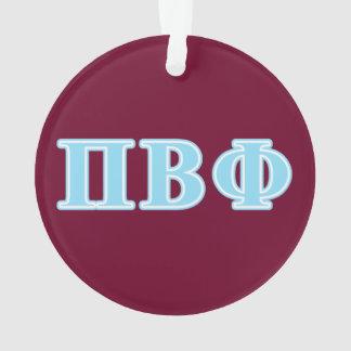 Pi Beta Phi Blue Letters Ornament