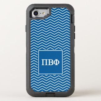 Pi Beta Phi   Chevron Pattern OtterBox Defender iPhone 8/7 Case