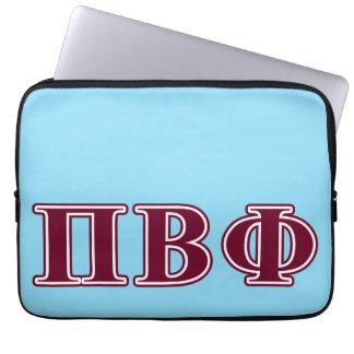 Pi Beta Phi Maroon Letters Laptop Sleeve