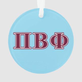 Pi Beta Phi Maroon Letters Ornament