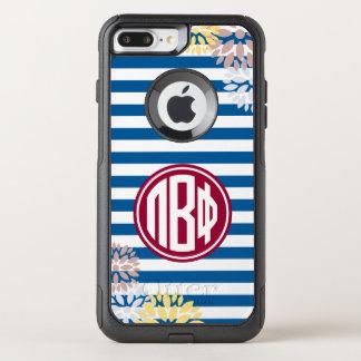 Pi Beta Phi   Monogram Stripe Pattern OtterBox Commuter iPhone 8 Plus/7 Plus Case