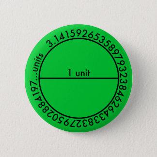 Pi Circle 6 Cm Round Badge