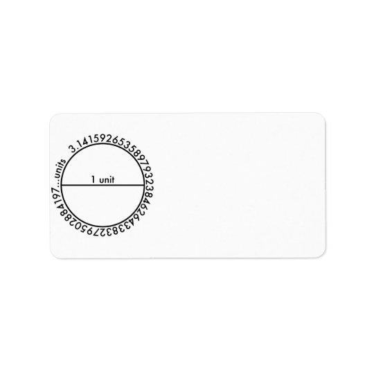 Pi Circle Address Label