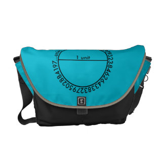 Pi Circle Messenger Bags