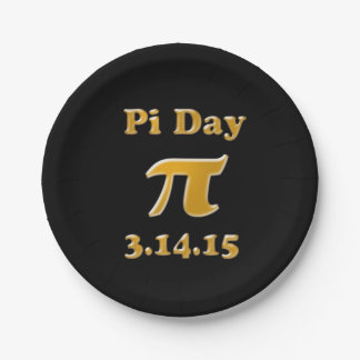 Pi Day 2015 Paper Plates 7 Inch Paper Plate