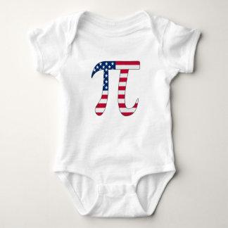 Pi Day American flag, pi symbol Baby Bodysuit