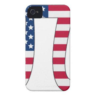 Pi Day American flag, pi symbol iPhone 4 Case