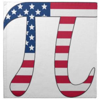 Pi Day American flag, pi symbol Napkin
