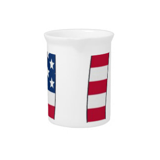 Pi Day American flag, pi symbol Pitcher