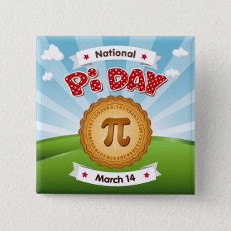 Pi Day, Celebrate Math, Eat Pie! 15 Cm Square Badge