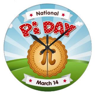 Pi Day, Celebrate Math, Eat Pie! Large Clock