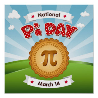 Pi Day, Celebrate Math, Eat Pie! Poster