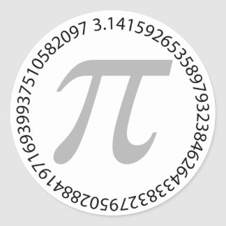 pi day celebration is fun round sticker