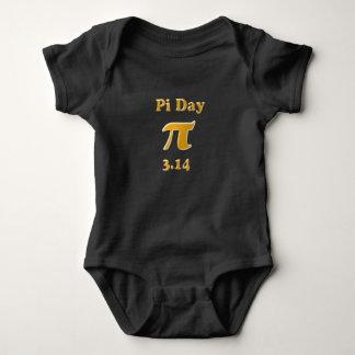 Pi Day Gold Baby Bodysuit