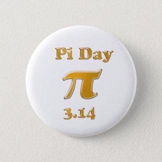 Pi Day Gold on White 6 Cm Round Badge