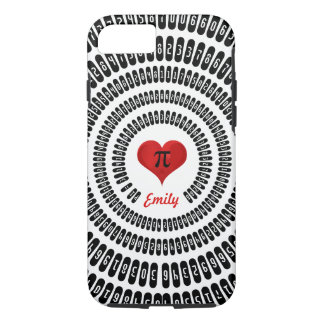 Pi Day Heart Math Digits 3.14 Mathematics Funny iPhone 7 Case
