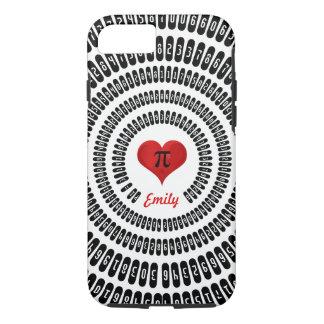 Pi Day Heart Math Digits 3.14 Mathematics Funny iPhone 8/7 Case