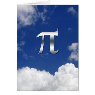'Pi day humorous in sky Card