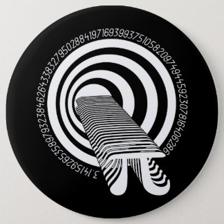 Pi Day Math Geek Time Warp 6 Cm Round Badge