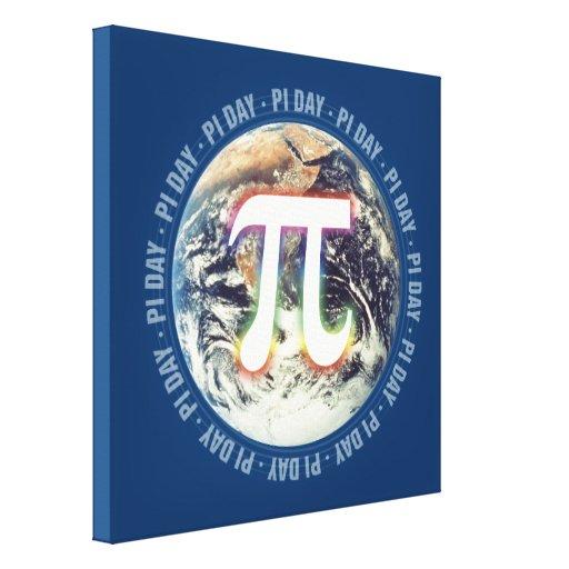 Pi Day on Earth - Math Canvas Canvas Prints