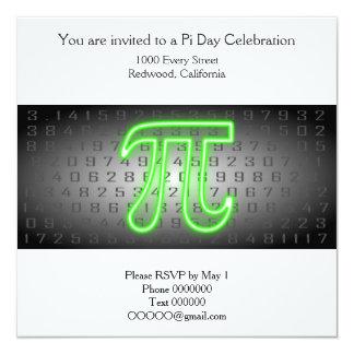 Pi Day Part Invitation