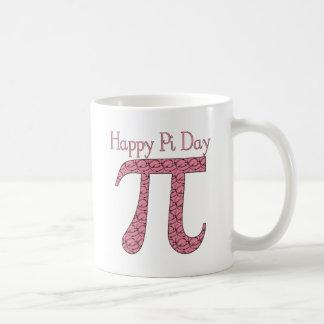 Pi Day Pink Doodle Swirls Coffee Mug