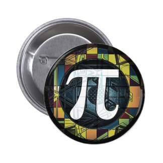 Pi Day Symbol Design dk Button