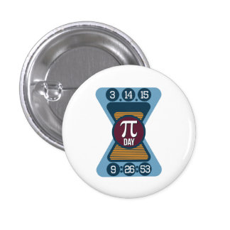 Pi Day Symbol for Math Nerds on March 14 Button 1 Inch Round Button