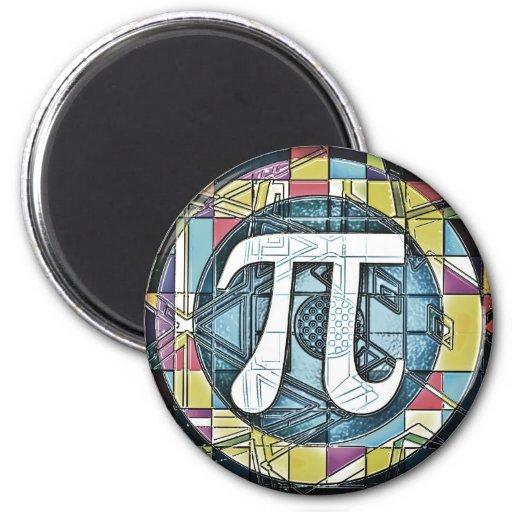 Pi Day Symbol Rounds Refrigerator Magnet