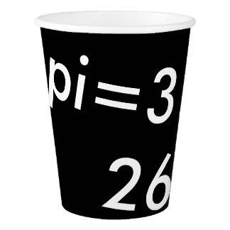 pi Digits Math Love pi= 3.14159 pi Day black white Paper Cup