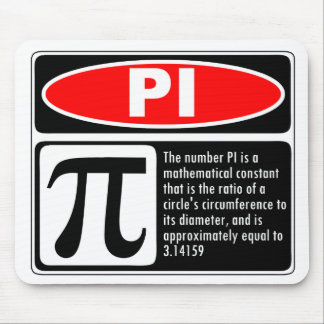 Pi Explanation Mouse Pad
