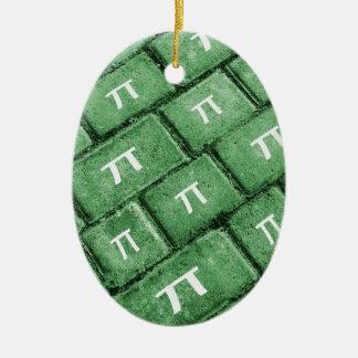 Pi Grunge Style Pattern Ceramic Ornament